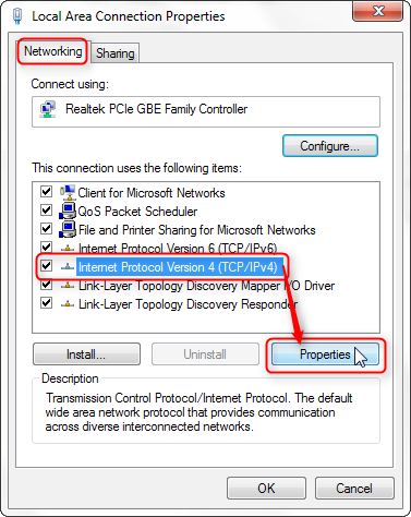 DHCP settings for Win7-10