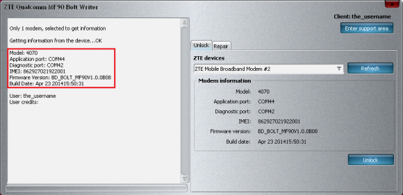 ZTE MF90 B08 Bolt detect and unlock guide