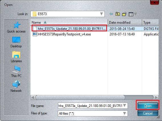 Huawei E5573 repair by testpoint