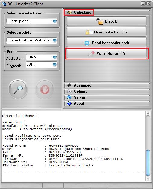 Huawei ID unlock
