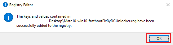 Huawei Mate 10 windows 10 Fastboot installation fix